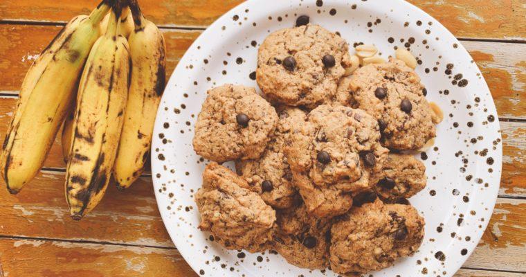 vegane Erdnuss-Bananen-Cookies